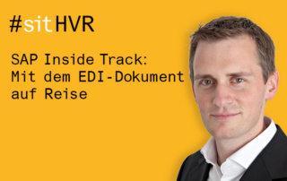 SAP Inside Track 2018 bei Inwerken in Hannover: Mit dem EDI-Dokument auf Reise mit Philipp Liegl