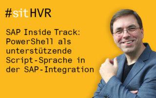 SAP Inside Track 2018 bei Inwerken in Hannover: PowerShell als unterstützende Script-Sprache in der SAP-Integration mit Stefan Schnell