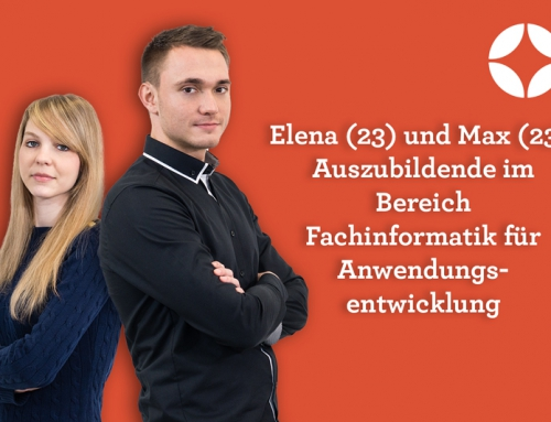 Elena & Max – Auszubildende im Bereich FI für Anwendungsentwicklung