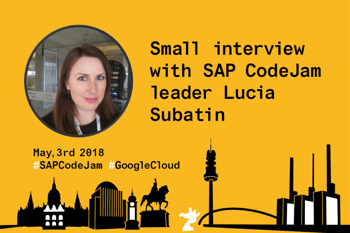SAP CodeJam 2018 bei Inwerken in Hannover: Google Cloud Platform mit Lucia Subatin
