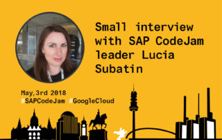 Lucia Subatin- Speaker SAP CodeJam and Google Cloud