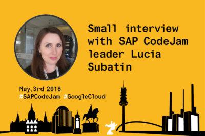 Lucia Subatin- Speaker SAP CodeJam and Google Cloud