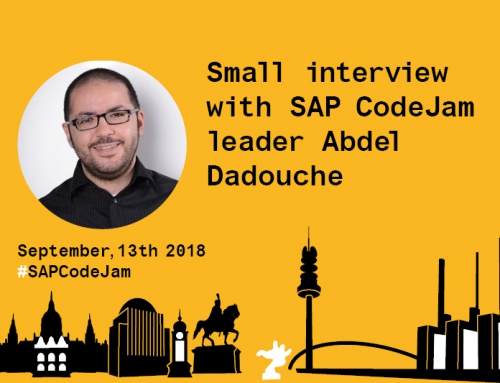 Small interview with SAP CodeJam leader Abdel Dadouche