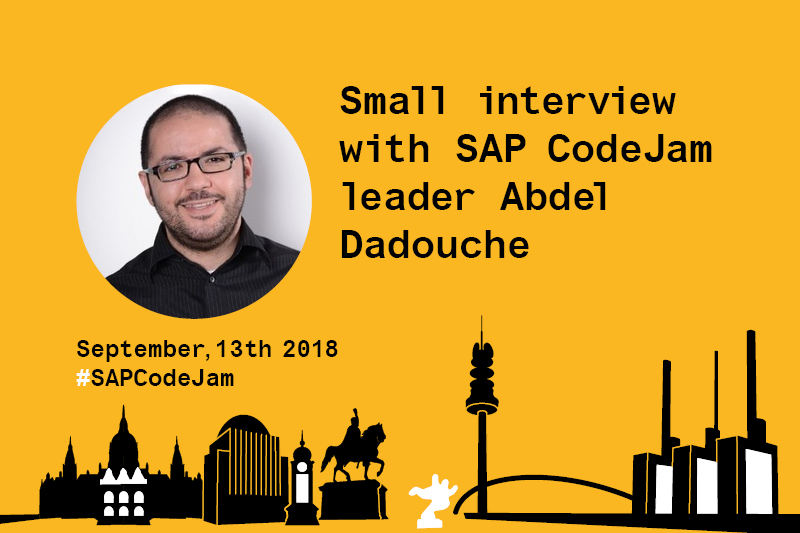 Abdel Dadouche Interview SAP Leonardo SAP CodeJam