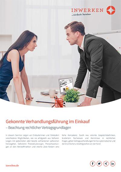 Flyer Weiterbildungs-Seminare: Gekonnte Verhandlungsführung