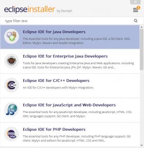 Installationsguide 2019: Eclipseinstaller