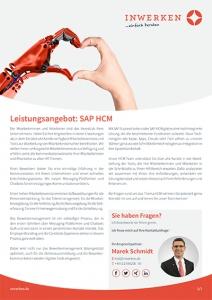 Flyer Leistungsangebot Inwerken: Human Capital Management (HCM)