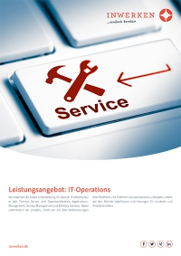 Flyer Leistungsangebot Inwerken: IT-Operations