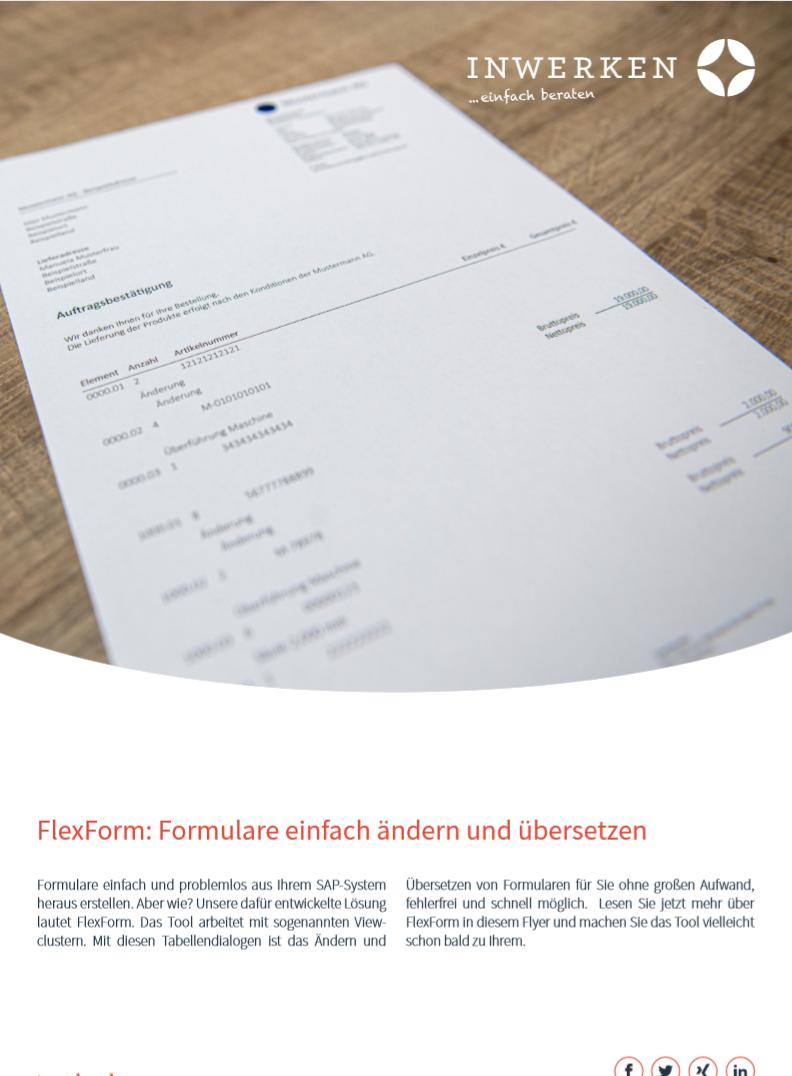 FlexForm-Das Tool von Inwerken zum Ändern und Übersetzen von Formularen