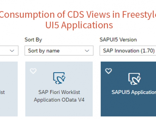 Consumption of CDS Views in Freestyle UI5 Applications