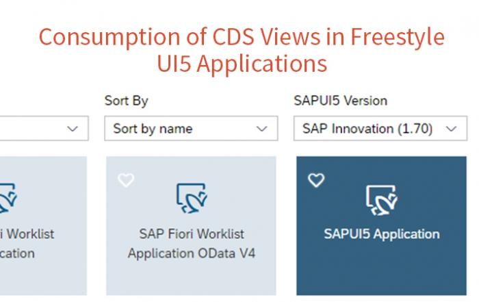 Konsum von CDS Views in Freestyle UI5 Anwendungen