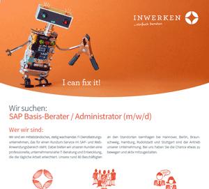 SAP Basis-Administrator Download Stellenausschreibung 2020