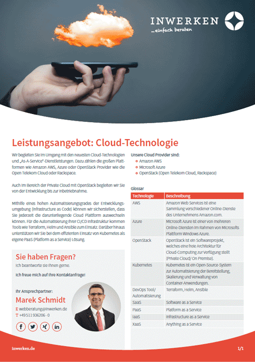 Services Offer: Cloud technology