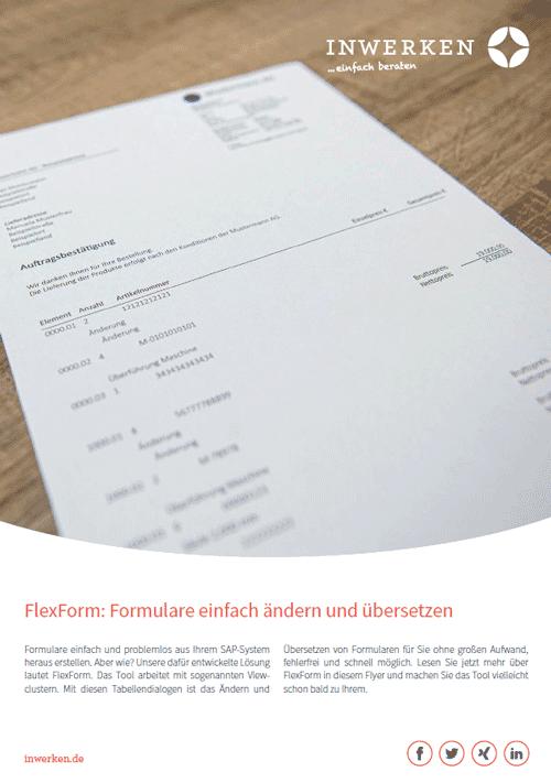 FlexForm: SAP-Formulare ändern ohne Programmierung Infos zum Download