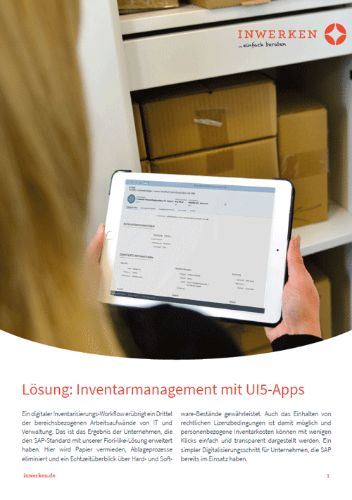 Inventarmanagement: Lösung mit UI5-Apps