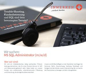 MS SQL-Administrator Download Stellenausschreibung 2020