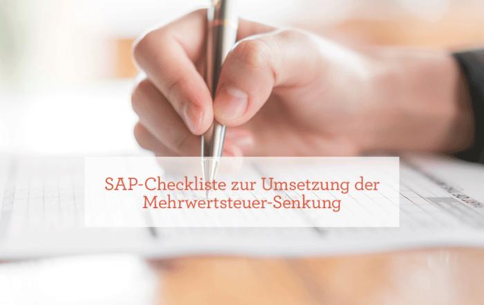 SAP-Checkliste Mehrwertsteuersenkung