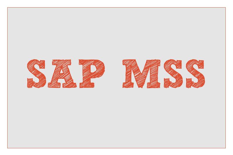 SAP MSS