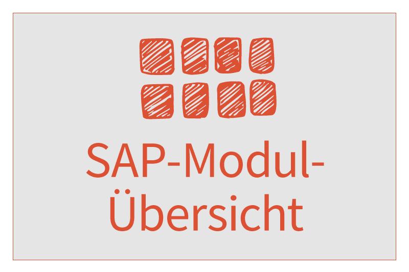 SAP Modulübersicht