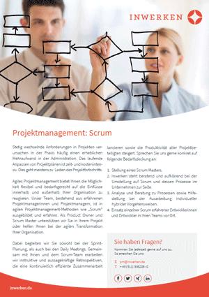 Scrum agiles Projektmanagement Flyer