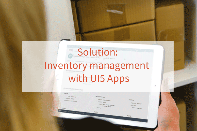 Solution of Inventory management with UI5 Apps