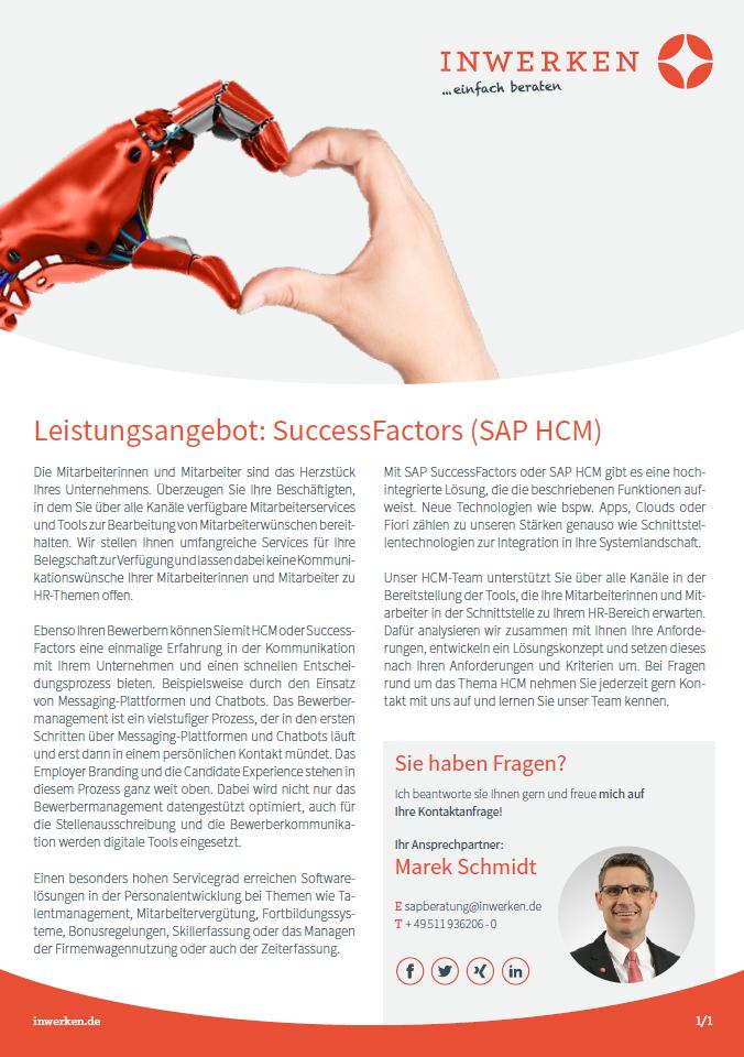 SuccessFactors SAP HCM Beratung Entwicklung