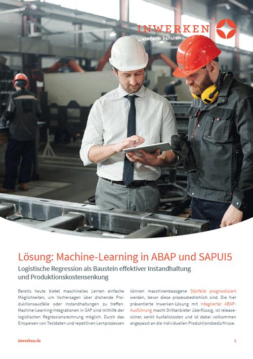 Machine-Learning-Lösung mithilfe logistischer Regression in SAP