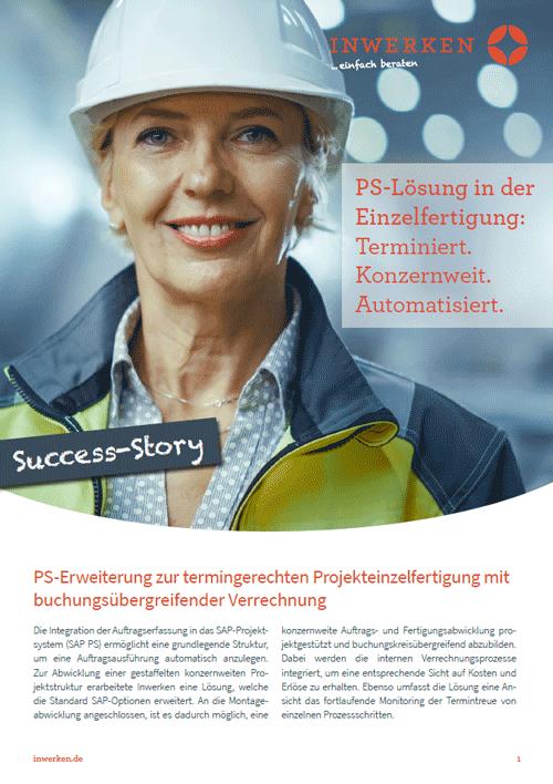 Success Story Download Link anfordern SAP PS Erweiterung Lösung